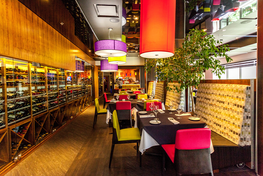 Interior of Le Dijon restaurant